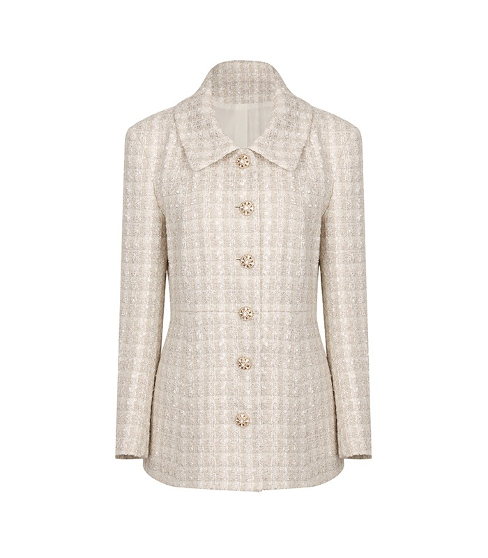 [only Astier] exclusive silhouette tweed jacket