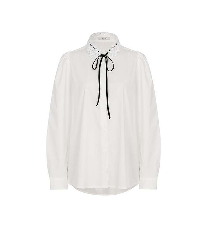 [only Astier] christine lace shirt blouse
